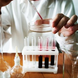doctor making blood analysis in the laboratory